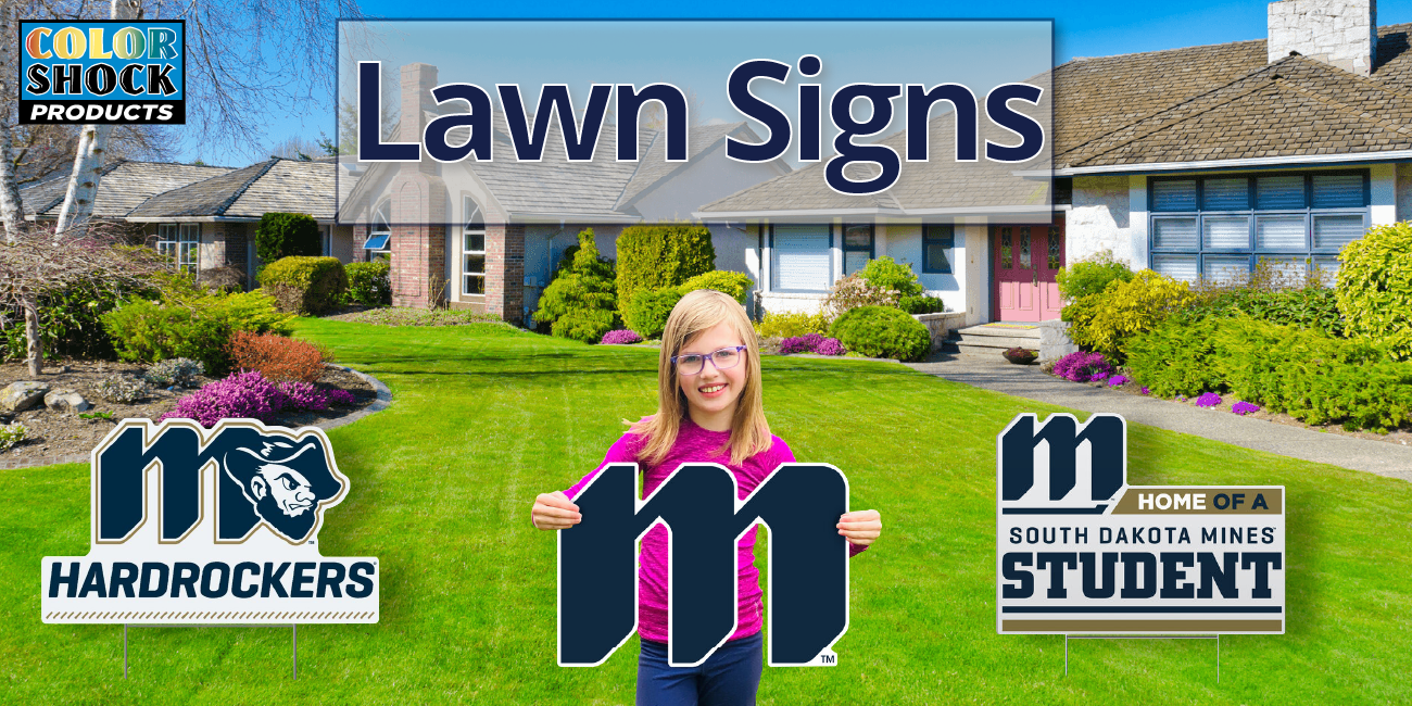 Color Shock Lawn Signs