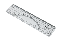 "6"" Protractor Ruler 180 Degree"