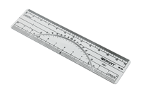 "6"" Protractor Ruler 20Ths / 40Ths"