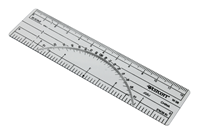"6"" Protractor Ruler 10Ths / 20Ths"