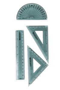 "6"" Combo Set Ruler Etc  Kt-1"