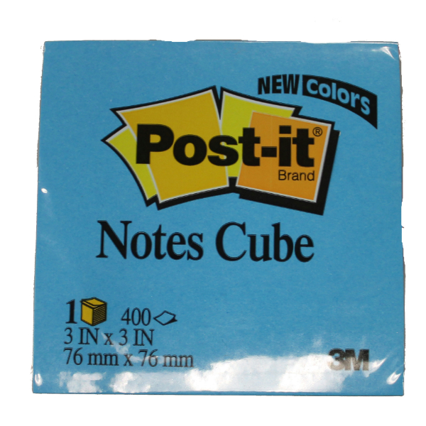 Post-It Notes Cube, 3X3""