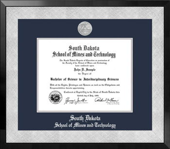 Diploma Frame Honors Black/Silver