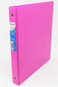 Binder 1 Inch 3-Ring Light Use Pink