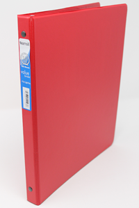 Binder 1/2 Inch 3-Ring Light Use Red
