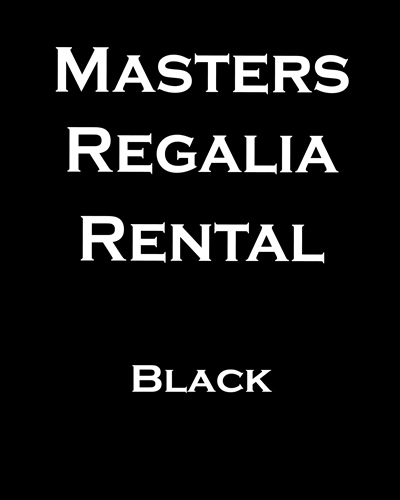 1 Masters Graduation Regalia Rental