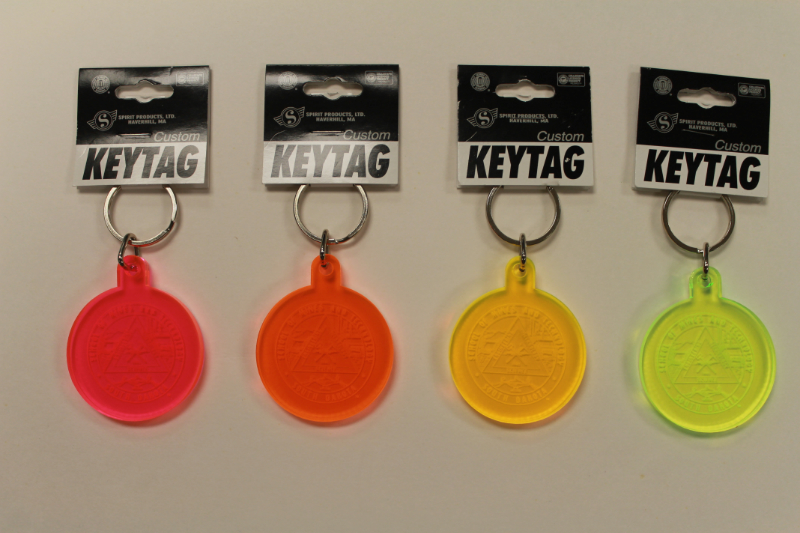 Key Tag Neon Acrylic Round With Seal