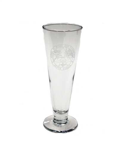 Glass Classic Pilsner Etched Seal 16 Oz