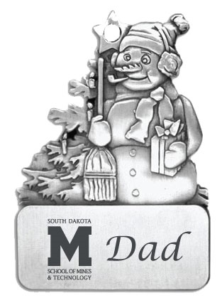 Dad Ornament Frosty W M Logo