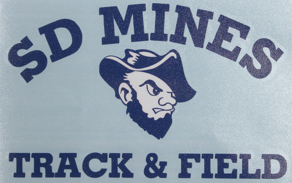 Decal Sd Mines Track & Field