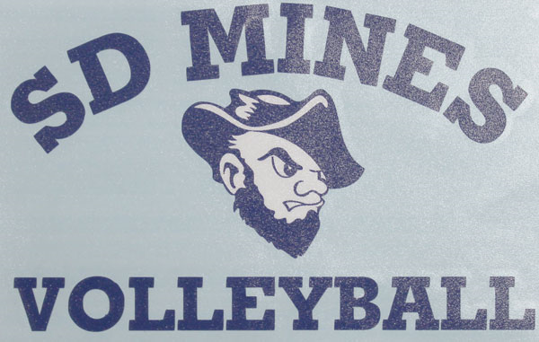 Decal Sd Mines Volleyball