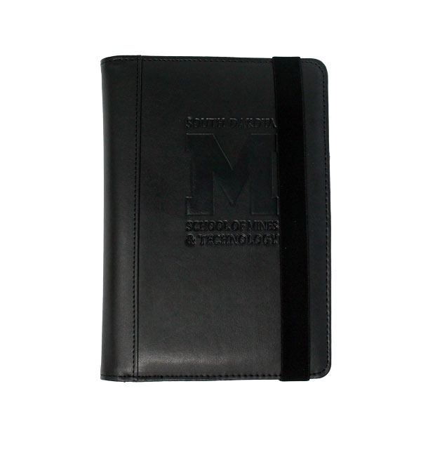 Journal And Tablet Case Black Deboss 'M'