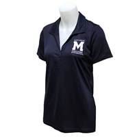 Ladies Polo Shirt Embossed Tough Ci M Logo Pillar