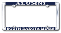 License Plate Frame Alumni Standard Chrome