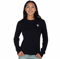 CREW NECK CABLED LADIES BRUZER PITZI