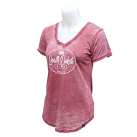 Ladies V-Neck Weathered Tee Techstyles Peseroh