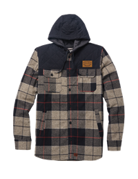 Jacket Quilted Flannel Plaid Techstyles Leather Patch