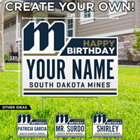 Custom Happy Birthday South Dakota Mines Sdsm-Lwn-14