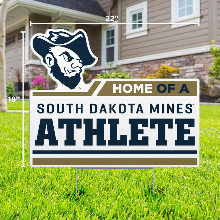 Home Of A South Dakota Mines Athlete Sdsm-Lwn-15 (SKU 1051461079)